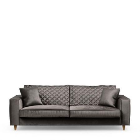 4193009 Kendall Sofa 3,5 Seater, velvet, grimaldi grey Riviera Maison Eindhoven