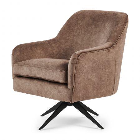 4958001 Fawcett Swivel Chair Black Leg, berkshire, truffle Riviera Maison Eindhoven