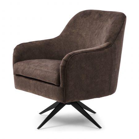 4958003 Fawcett Swivel Chair Black Leg, berkshire, cacao Riviera Maison Eindhoven