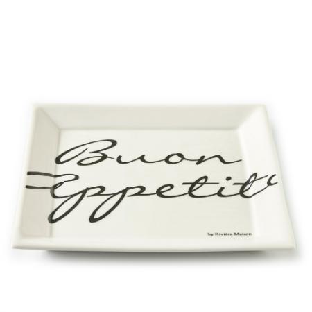 164960 Buon Appetito Square Plate 22 x 22 Riviera Maison Eindhoven
