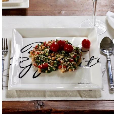 Buon Appetito Square Plate 26 x 26 Riviera Maison 164970