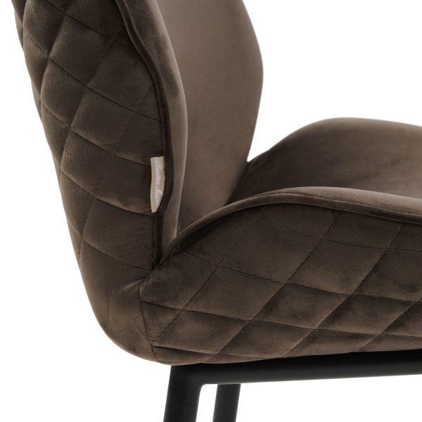 Mr. Beekman Dining Chair, velvet III, anthracite 4928003 Riviera Maison