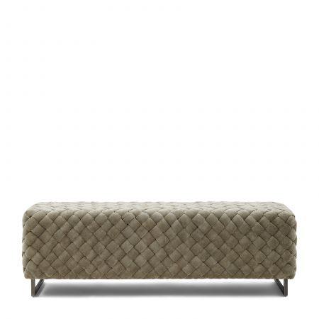 Room 48 Bench, fine tweed, pebbles 4999001 Riviera Maison Eindhoven