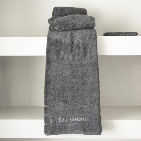 466890 RM Hotel Towel anthracite 140x70 Riviera Maison Eindhoven