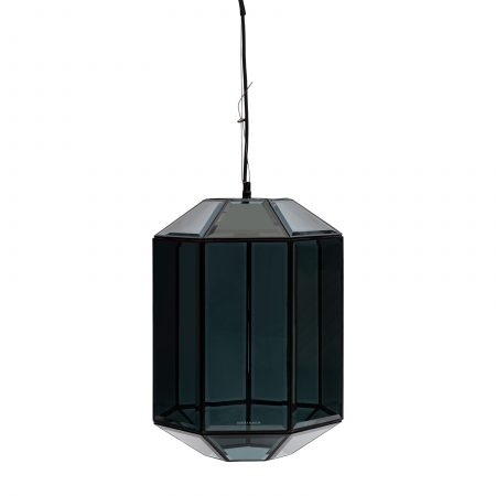 481990 French Glass Hanging Lamp black Riviera Maison Eindhoven