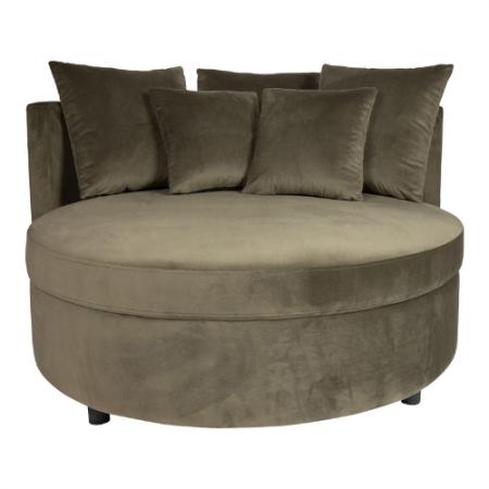 Patti 30082002702132 Velvet Green fauteuil half round Riviera Maison Eindhoven