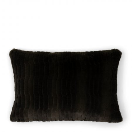490140 Faux Fur Pillow Cover green 65x45 Riviera Maison Eindhoven