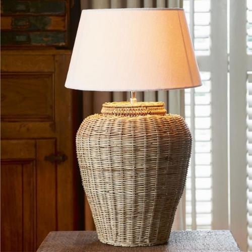 308260 Rustic Rattan Grand Lobby Lamp Base L Riviera Maison Eindhoven